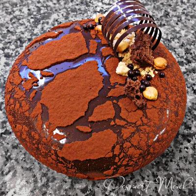 csoki-mogyorú torta tükörglazúrral
