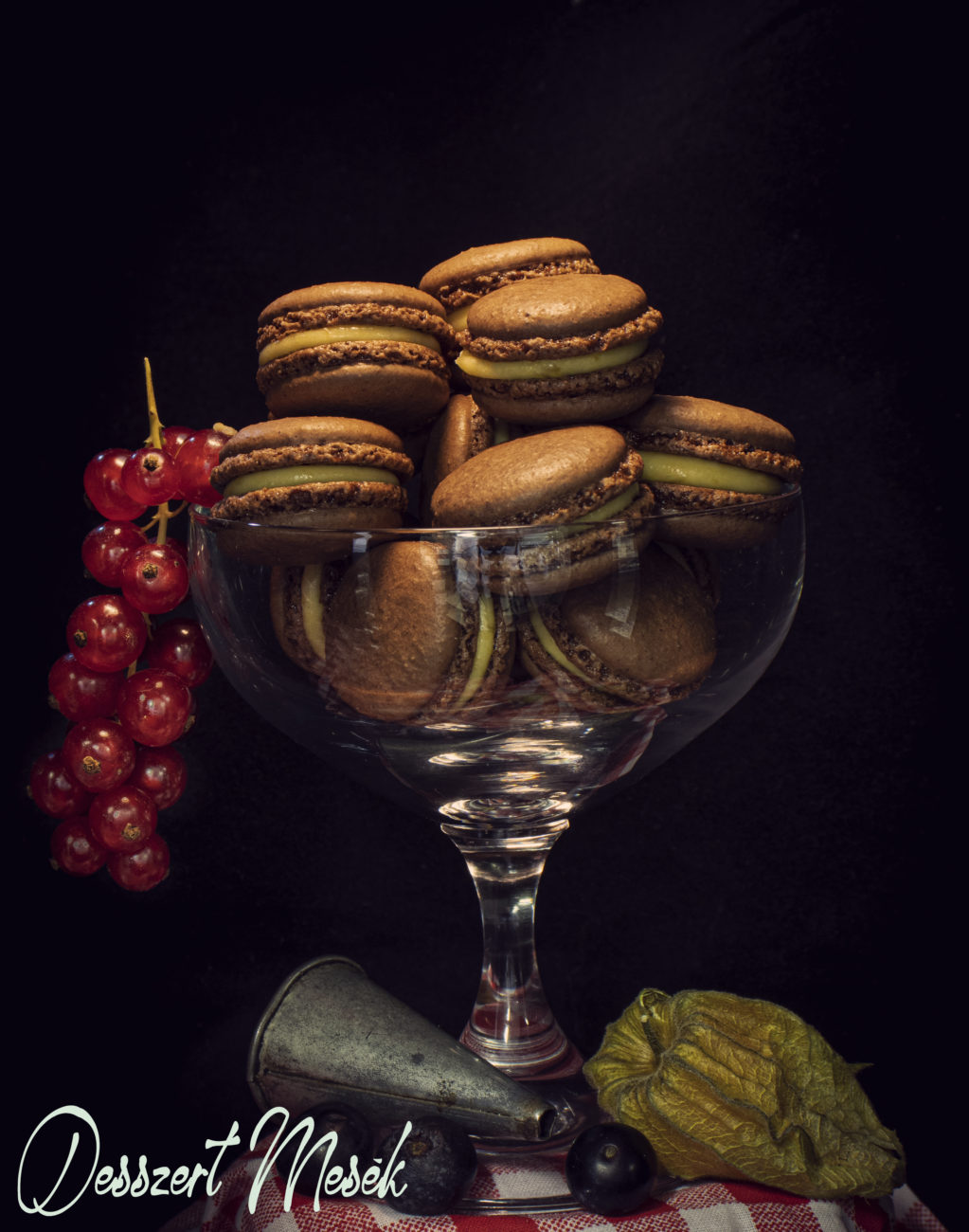 Csokis-sárgabarackos macaron recept