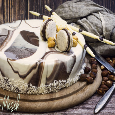 kókusz-mogyoró torta
