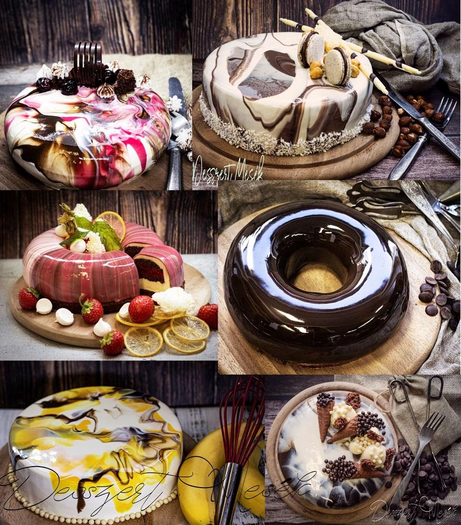 Csokoládés tükörglazúr recept