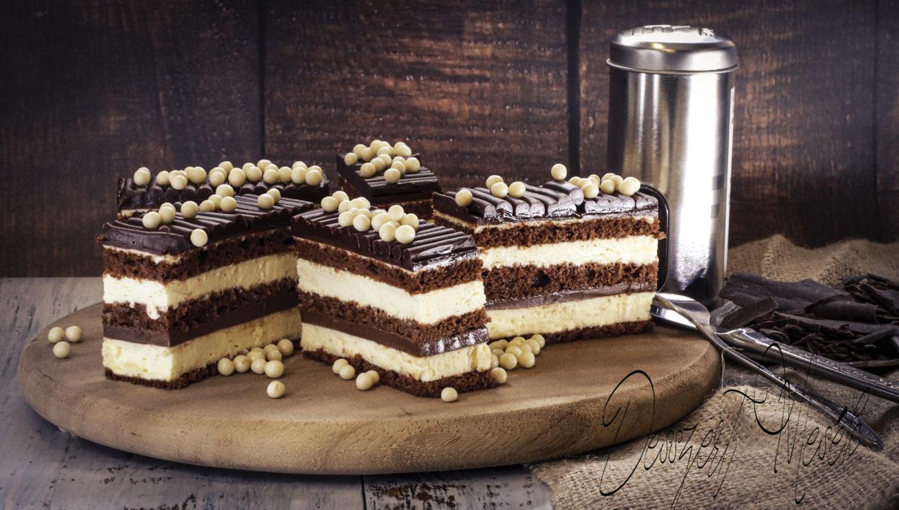 Csokoládés vaníliás szelet