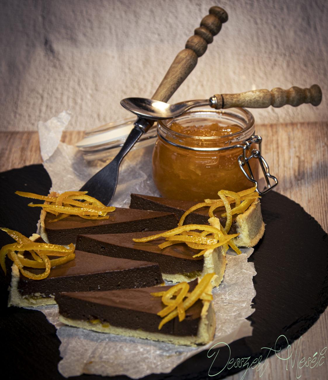 Csokoládés narancsos tart recept