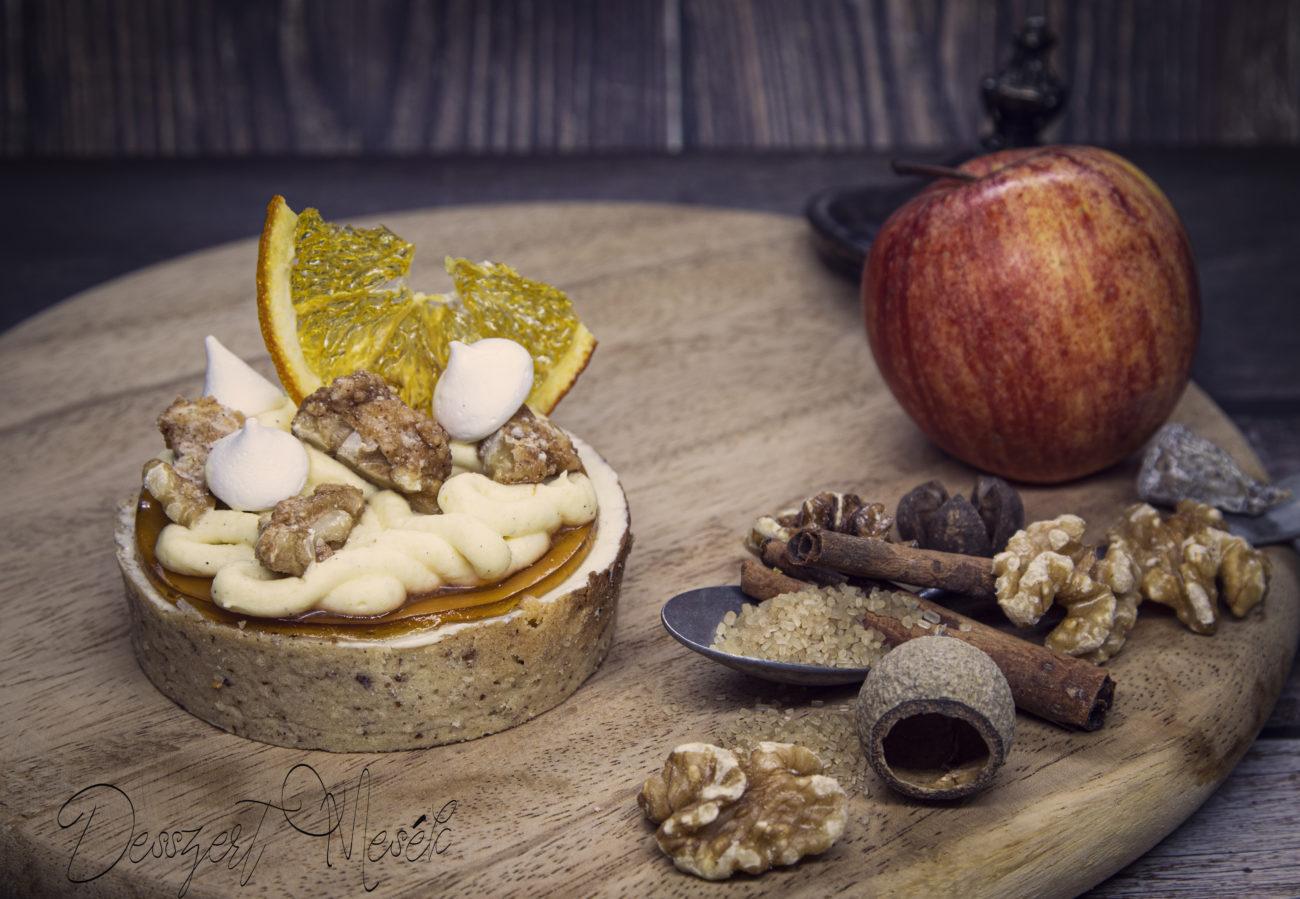 Almás diós tartlet recept