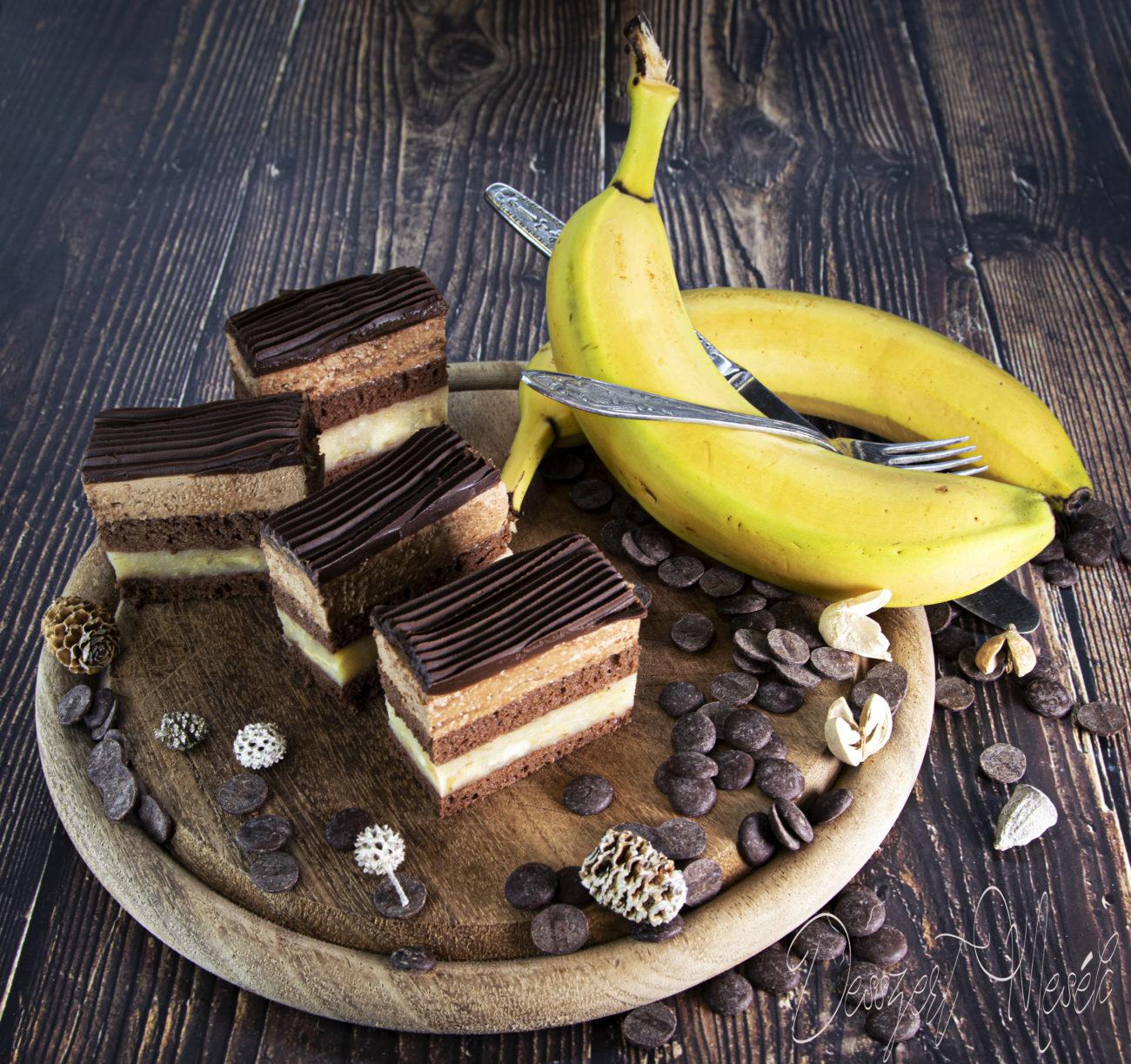 Csokis-banán szelet
