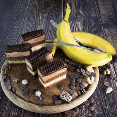 Csokis banán szelet