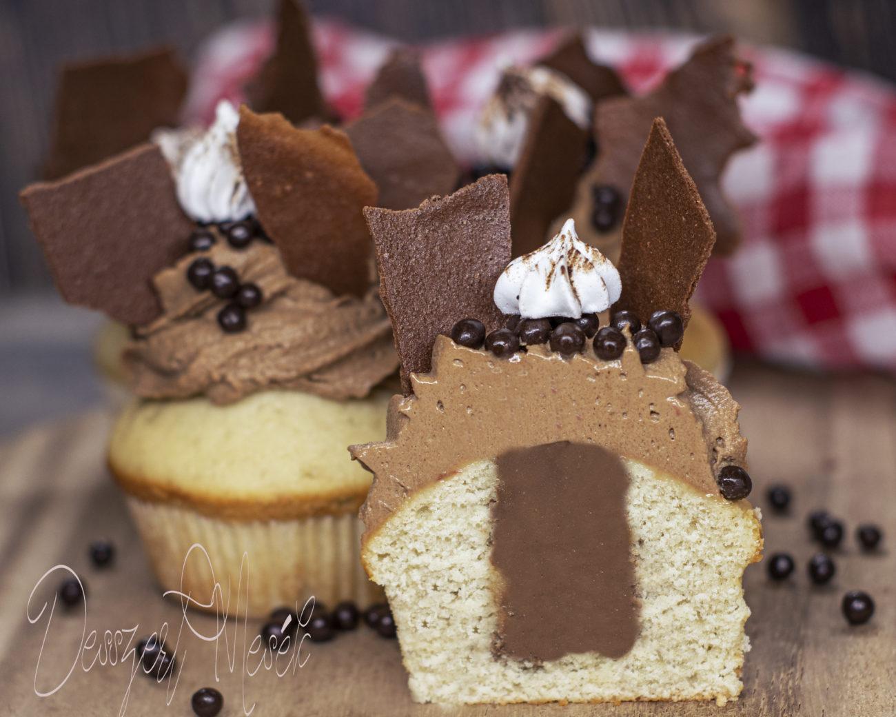 Csokis banános cupcake