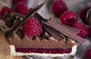 Csokis málnás tartlet