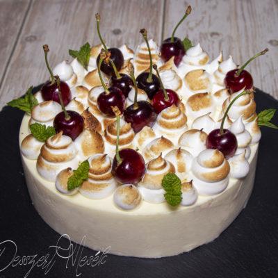 Cseresznyés tejhabos torta