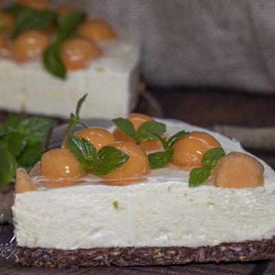 Sárgadinnye torta - sütés nélkül