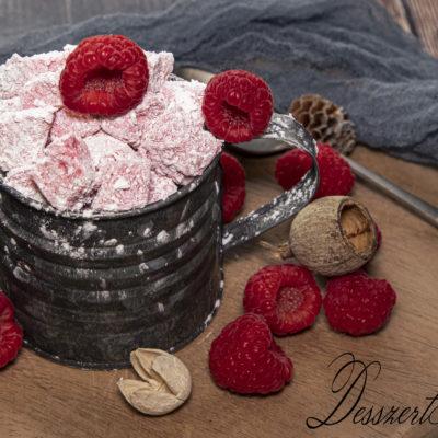 Málnás pillecukor (marshmallow)
