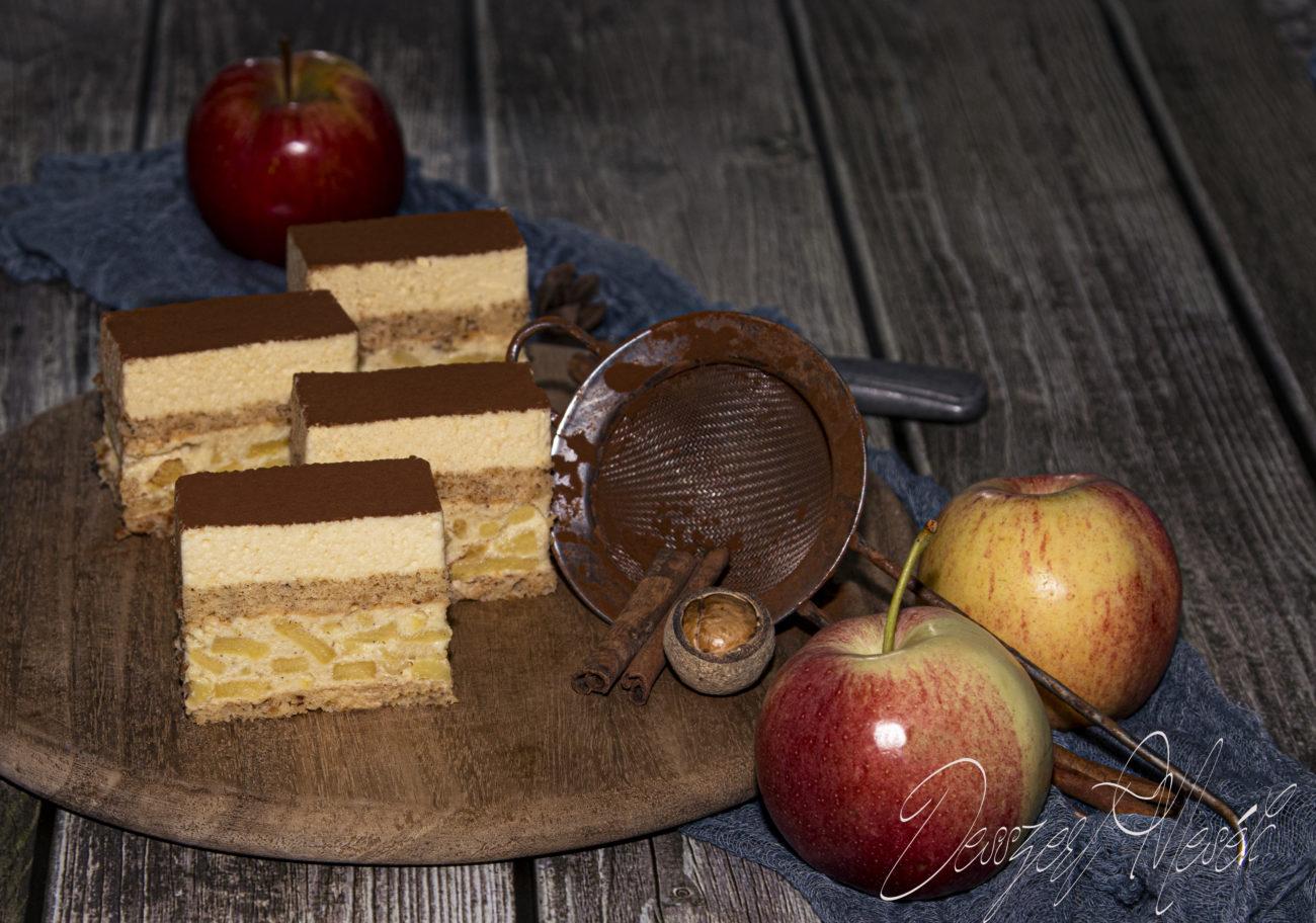 Vaníliás alma szelet tejszínes borhabbal
