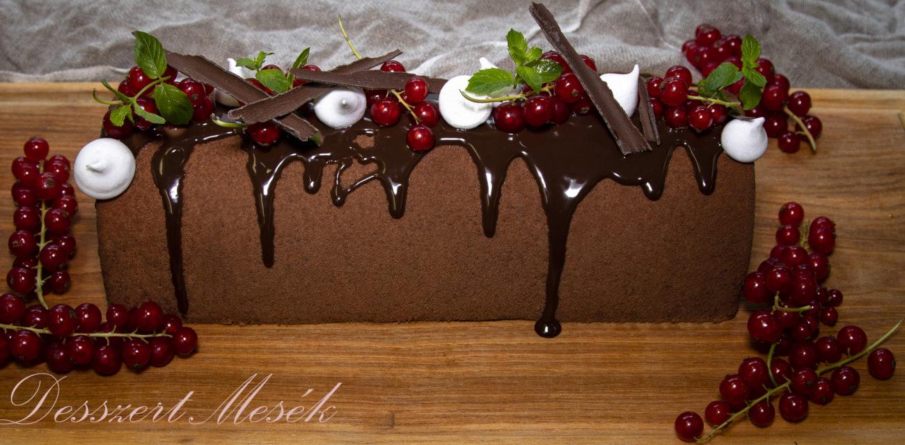 Csokoládéalagút piros ribizlivel